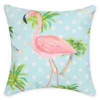 Palm Beach Flamingo Square Indoor/Outdoor Pillow in Blue