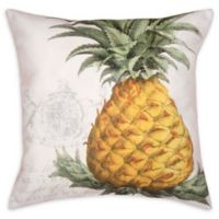 C&F Home Crest Pineapple Square Indoor/Outdoor Pillow in Yellow