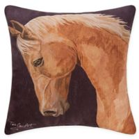 C&F Home Chestnut Horse Square Indoor/Outdoor Throw Pillow in Brown
