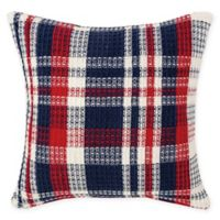 Harbor Plaid Square Throw Pillow in Blue