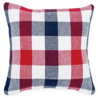 Picnic Plaid Square Throw Pillow in Red