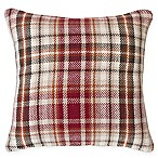 Samuel Plaid Square Throw Pillow in Brown