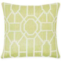 Trellis Cotton Throw Pillow in Peridot