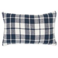 Sheridan Plaid Rectangular Throw Pillow in Navy
