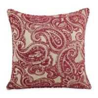 Firena Paisley Square Throw Pillow in Burgundy