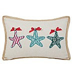 Jingle By The Sea Rectangular Throw Pillow in Natural