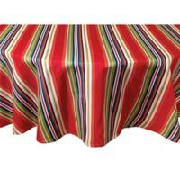 Mystic Stripe 70-Inch Round Tablecloth