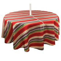 Mystic Stripe 70-Inch Round Umbrella Tablecloth