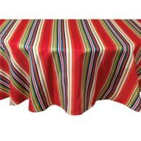 Mystic Stripe 60-Inch Round Tablecloth