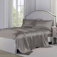 Satin Perfection King Sheet Set in Silver