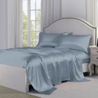 Satin Perfection King Pillowcases in Light Blue (Set of 2)
