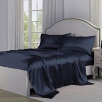 Satin Perfection King Pillowcases in Navy (Set of 2)