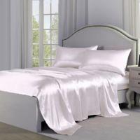 Satin Perfection King Pillowcases in White (Set of 2)