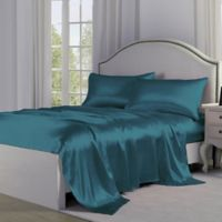 Satin Perfection Full Sheet Set in Teal