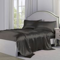 Satin Perfection King Pillowcases in Charcoal (Set of 2)
