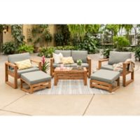 Forest Gate Otto 6-Piece Acacia Wood Patio Chat Set in Brown
