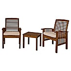Forest Gate 3-Piece Curved Patio Conversation Set in Dark Brown