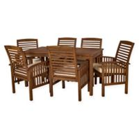 Forest Gate Arvada 7-Piece Acacia Wood Outdoor Dining Set in Dark Brown