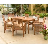Forest Gate Arvada 7-Piece Acacia Wood Outdoor Dining Set in Brown
