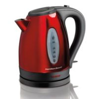 Hamilton Beach® 1.7-Liter Stainless Steel Electric Kettle in Red