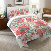 Laural Home® Bohemian Poppies Twin Comforter in Pink