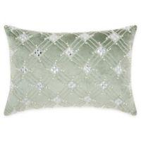 Mina Victory by Nourison Diamond Lattice Oblong Throw Pillow in Celadon
