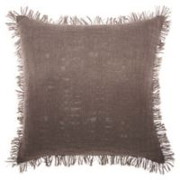 Mina Victory by Nourison Woven Ombre Square Throw Pillow in Charcoal