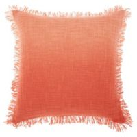 Mina Victory by Nourison Woven Ombre Square Throw Pillow in Coral