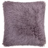 Mina Victory by Nourison Yarn Shimmer Shag 17-Inch Square Pillow in Lavender