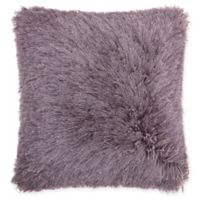 Mina Victory by Nourison Yarn Shimmer Shag 20-Inch Square Pillow in Lavender