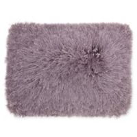 Mina Victory by Nourison Yarn Shimmer Shag Oblong Pillow in Lavender