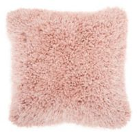 Mina Victory By Nourison Lush Yarn 18-Inch Square Pillow in Rose