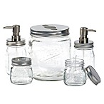 Mason Jar 5-Piece Glass Bath Ensemble