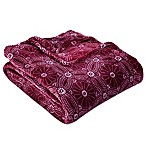 Berkshire Blanket® VelvetLoft® Dot Floral King Blanket in Crimson