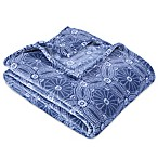 Berkshire Blanket® VelvetLoft® Dot Floral King Blanket in Blue