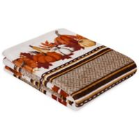 Pumpkin Striped 50-Inch x 60-Inch Throw in Taupe Multicolor