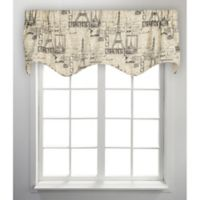 Parisian Scalloped Valance in Natural