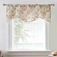 Pineapple Crush 50-Inch Multicolor Rod Pocket Window Valance