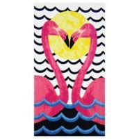Kissing Flamingo Beach Towel