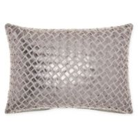 Mina Victory By Nourison Faux Leather Oblong Throw Pillow in Natural