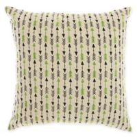 Mina Victory By Nourison Arrow Square Throw Pillow in Nautral