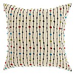 Mina Victory By Nourison Dot Square Throw Pillow in Nautral