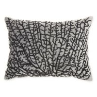 Mina Victory By Nourison Beaded Coral Oblong Throw Pillow in Grey/Black