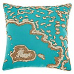 Mina Victory by Nourison Barrier Reef Square Throw Pillow in Turquoise