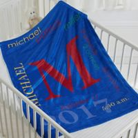 All About Baby Boy Fleece Blanket