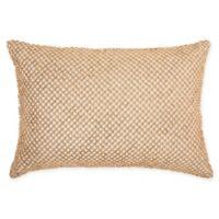 IM!H by Nourison Beaded Lattice Rectangle Pillow in Cream