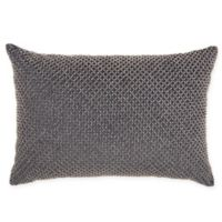 IM!H by Nourison Beaded Lattice Rectangle Pillow in Midnight