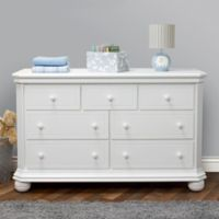 Sorelle Vista Elite 7-Drawer Double Dresser in White