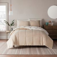UGG® Clifton 3-Piece Reversible King Comforter Set in Oatmeal