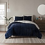 UGG® Clifton 3-Piece Reversible King Comforter Set in Navy